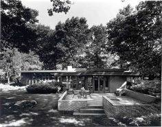 Melvyn Maxwell Smith House. Frank Lloyd Wright. Usonian Style. Bloomfield Hills, Michigan.1949-50
