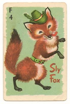Sly Fox. vintage animal rummy card. - I actually had these as a kid -  pictures can trigger a memory!