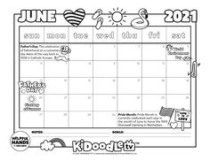 Print and color this June print out calendar perfect for the last month of the semester! Print Out Calendar, June Calendar Printable, Stonewall Uprising, The Way Back, Dad Day, Activity Sheets, Some Fun, Fun Activities, Catholic