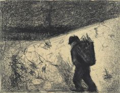 Georges Seurat's The Ragpicker (Private Collection, c. 1882-1883)