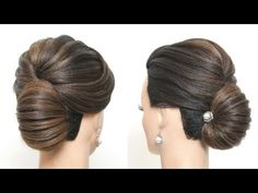 Bridal Hairstyle For Long Hair New French Roll Updo Tutorial New Simple Hairstyle, French Roll Hairstyle, Easy Updo Hairstyles, Party Hairstyles, Girl Hairstyles, Easy Hair, Bridal Hairstyles, Simple Updo, French Hair