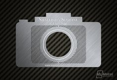 Amazing design and production of Stainless steel Photographer Business Cards by My Metal Business Card