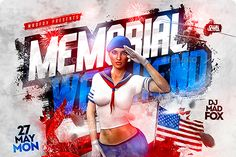 It's not just time to salute Captain America, but honor the heroes that served in the US Armed Forces. If your Memorial Day event includes a celebration, the Memorial Day Party Flyer may be the red, white and blue option for you.