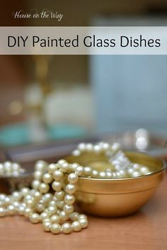 DIY Painted Glass Dishes