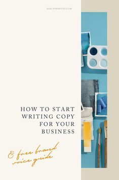 How to start writing copy for your creative business | Ashlyn Writes | Confused on what copy IS and how you can use it to grow your business? In this post, I'm discussing the different forms of copywriting and 14 ways to DIY your own copy today! #copywritingforbeginners #copy #marketing