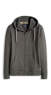 Esprit / Hooded cardigan in 100% cotton