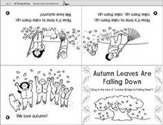 Autumn Leaves Are Falling Down Mini-Book