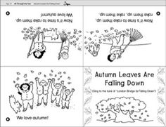 Autumn Leaves Are Falling Down Mini-Book