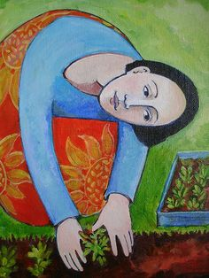 Planting Out   This is a detail of an acrylic painting that …   Flickr