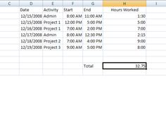 Create A Timesheet Template To Help Track Your Billable Hours