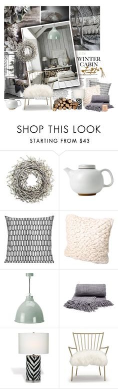 Winter Cabin by lacas on Polyvore featuring interior, interiors, interior design, home, home decor, interior decorating, Mitchell Gold + Bob Williams, Garden Trading, Royal Doulton and Shea's Wildflower