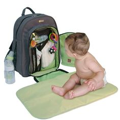 Backpack diaper bag- I need this! Lol