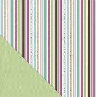 Twinkling Stripe/Green Chevron 12X12 Fern