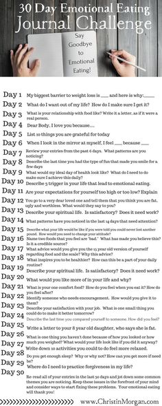 FREE DOWNLOAD: 30 Day Emotional Eating Journal Challenge