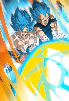 Goku e Vegeta - Dragon Ball Super: Broly Dragon Ball Z, Dragon Claw, Majin, Vegito Y Gogeta, Broly Movie, Goku Wallpaper, Ball Drawing, Fanart, Otaku Anime