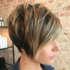 Long Tapered Pixie with Messy Crown