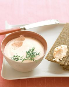 Salmon Mousse - low carb appetizer - serve with Endurance Crackers on this Board - http://pinterest.com/serenityshope/1-low-carb-foods-motivation/