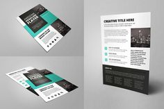Flat Business Flayer by Snita on @creativemarket