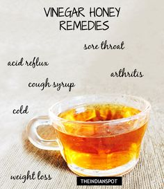 Apple cider vinegar and honey are a powerful health booster. When you consume them in their unprocessed, raw forms, the health benefits abound. If you put the two together, the results become even mor Natural Cough Remedies, Natural Cures, Natural Health, Cold Remedies, Vinegar Uses, Vinegar And Honey, Cider Vinegar, Cinnamon Benefits, Apple Cider Benefits