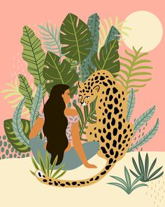 cheetah aesthetic pattern Jungle love tapestry featuring tropical leaves and a cheetah graphic. Jungle Love, Jungle Art, Jungle Drawing, Jungle Pattern, Painting Inspiration, Art Inspo, Jungle Illustration, Arte Sketchbook, Mural Art