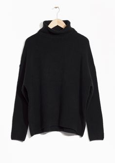 & Other Stories image 1 of High Neck Sweater in Black