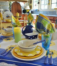 yellow,blue and green ~ cheerful colors
