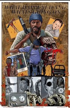 """The Walking Dead Artwork by Kirk Manley. Season - """"What Happened and What's Going On"""" Walking Dead Comics, Walking Dead Series, Fear The Walking Dead, Walking Dead Wallpaper, Memes, Ipad, Dead Zombie, Walk The Earth, Stuff And Thangs"""