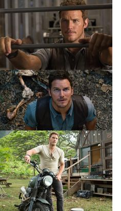 Jurassic World 2015. Chris Pratt is not the greatest actor, but he sure is cute!