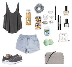 """Waiting for summer"" by ahriraine ❤ liked on Polyvore featuring RVCA, Converse, Natasha Couture, Casetify, MAKE UP FOR EVER, Maison Margiela, Balmain, Happy Plugs, Bobbi Brown Cosmetics and Eos"