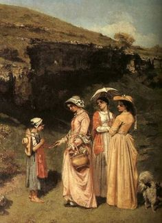 The Ladies of the Village Giving Alms to a Cowherd