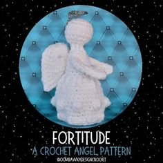 Fortitude A Crochet Angel Pattern - Free Crochet Pattern. Yarn: Red Heart Super Saver. Hook: 4 mm (G). Stands on her own! Crochet Angel Pattern, Crochet Angels, Crochet Patterns, Crochet Scarves, Crochet Hats, Fingerless Mitts, Bobble Stitch, Half Double Crochet, Amigurumi Patterns