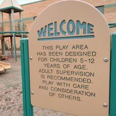 playground signs | Playground Signs Playground Warning Signage Playground Entrance Sign