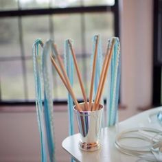 these might be fun to make and give to guests to wave as bride and groom leave the church or enter the reception