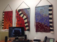 Three panel abstract which hangs in my office