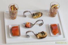 da www.acquaementa.com finger food di salmone e pesce gatto per la notte di Natale!
