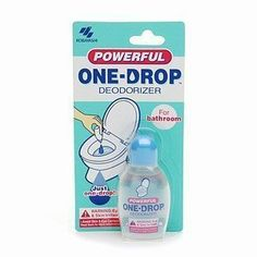 "One-Drop Powerful Deodorizer, 0.67 fl oz (Pack of 6) by Kobayashi. $24.25. 6 pack. Just a few drops of Kobayashi Powerful One Drop in a toilet bowl before use will instantly deliver a fresh fragrance and eliminate unwanted odors, like a ninja, silent, powerful, leaving no trace, it's like you were never there. My Bathroom Ninja Presents: Kobayashi Powerful One Drop Toilet Deodorizer ""Just one Drop and Odor Stops!"""