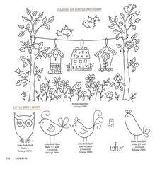 Garden of birds embroidery