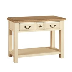 Westbury Painted 3 Drawer Console Table - The Cotswold Company Cream Console Table, Shabby Chic Console Table, Small Console Tables, Shabby Chic Furniture, Luxury Furniture, Painted Furniture, Dining Room Furniture, Furniture Making, Furniture Ideas