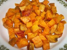 Oven Roasted Sweet Potatoes Recipe by COBANION via @SparkPeople