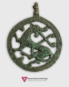 Isle of Man - Viking horse bridle pendant c. AD 1100