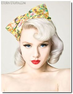 Pin Up Bandana Hairstyles   Pin Up hairstyles : quelques inspirations pour le printemps... - Be ...