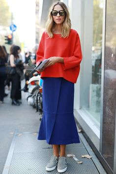 Bold colors and cool flats #MFW