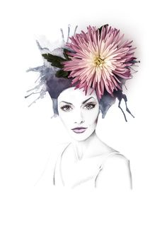 Crysanthemum Eyes by Georgie St Clair   Illustration using pencil and real flowers