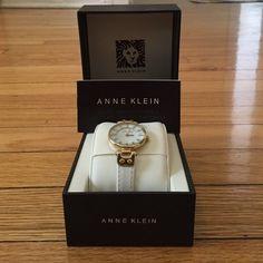 Anne Klein watch White band and gold watch. Never been worn mint condition. Anne Klein Accessories Watches