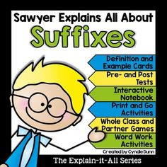 Suffixes are part of the affixes family and essential to reading foundation skills.This unit will teach your students about root and base words and pairs very well with the prefix unit.