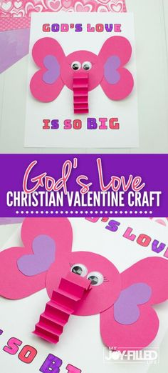 If you're looking for a Christian craft for Valentine's Day, this one is perfect.  This Valentine craft will show kids that God love them BIG time! Find out how to make this adorable craft over at My Joy-Filled Life.   #valentinecraft #godslove #kidcraft