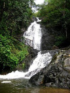 Cascadas El Limo en la zona alta de Metapan, El Salvador.
