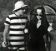 Gomez and Morticia - ready for fun in the sun?!