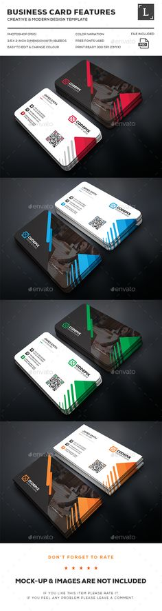 Shape Corporate Business Card — Photoshop PSD #clean #bundle • Available here → https://graphicriver.net/item/shape-corporate-business-card/16161044?ref=pxcr