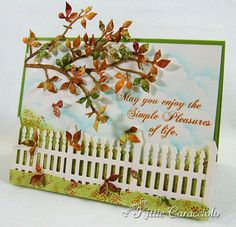 KC Impression Obsession Bare Branch 1 right/Kittie Caracciolo Fern Images, Impression Obsession Cards, Collor, Parchment Craft, Fall Cards, Winter Cards, Die Cut Cards, Thanksgiving Cards, Simple Pleasures